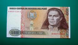 Peru -  500 Intis - 1987 - UNC