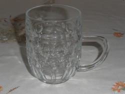 Retro, régi üveg kocsmai sörös korsó ( 3 dl.-es )