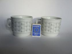 Régi, retró, art deco stílusú Zsolnay porcelán kakaós bögre-2 db egyben