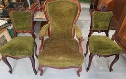 Neobarokk fotel+2db szék eladó,30eft.!