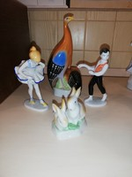 Hollóházi figurák, 4 db