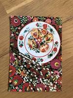 Húsvéti Üdvözlet - Népi festésű tojás képeslap