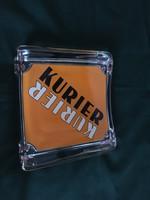 Retro Kurier pénz visszaadó üveg tálka