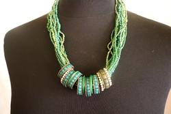 A legszebb zöld ,csupa-gyöngy nyaklánc