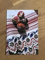 Húsvéti Üdvözlet - Népi festésű tojás képeslap - 1978 -as