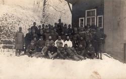 Csoportkép, katona, tisztek, kitüntetés