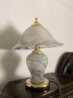 Asztali lámpa / muránói üveg - rézzel kombinálva
