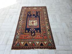 Kaukázusi minta 90x158 kézi csomózású gyapjú perzsa szőnyeg MK_14 ingyen futárral