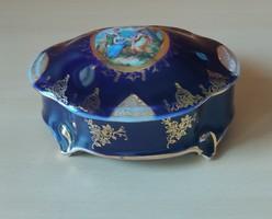 Ilmenau német porcelán kobaltékszerdoboz