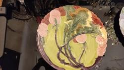 Nagyméretű Schütz  Blansko falitányér. Pitypang virág minta. F-24