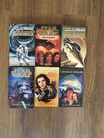 6 darab jó állapotú Star Wars könyv egyben