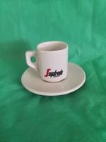 Segafredo, Zanetti  olasz kávés csésze aljjal, halvány cappuccino színű