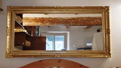 Antik,  69 x 138 cm.- es, arany színű ,  blondel   keretben, csodás  tükör. (9.)