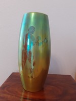 Large rare zsolnay cigar vase