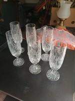 Pezsgős kristály pohár 18 cm x 6 cm talpas eladó