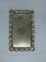 Ezüst, 800 ezrelék finomságú téglalap alakú tálca
