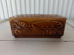 Retro csehszlovák fajansz dobozka