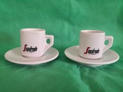 Segafredo, Zanetti  2 db olasz kávés csésze aljjal