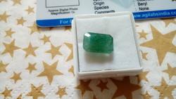 5.20 karátos kolumbiai zöld smaragd drágakő tanúsítvánnyal