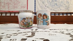 2 db. kedvenc, antik,porcelán bögre.
