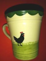 Kakaskás kerámia csésze