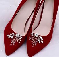 Esküvői, menyasszonyi, alkalmi cipődísz, cipőklipsz ES-CK21