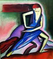 Sassy Attila(Aiglon) (1880-1967) - Art-Deco táncos