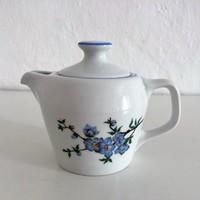 Hollóházi virágmintás porcelán kávékiöntő