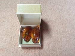 Egyedi különleges borostyán mandzsetta eredeti dobozával