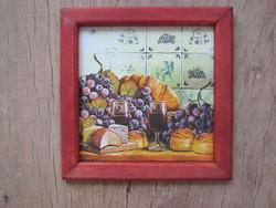 Konyhai csendélet dekupázs szalvéta  fali kép