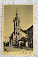 Régi képeslap Sopron Szent Mihály templom