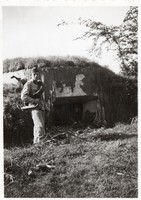 Katona portré kép, bunker, 1941, 6x8,5 cm