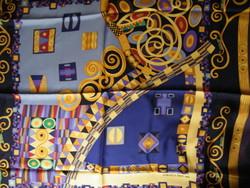 Michaela Frey selyemkendő Klimt stílusú (Hommage Gustav Klimt)