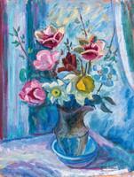 Galimberti Lanow Mária- Virágcsendélet