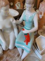 Antik retro figurális porcelán