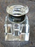 Régi üveg tintatartó kalamáris