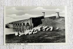 Régi képeslap Hortobágy hortobágyi hét lukú híd