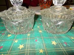 Hibátlan üveg cukortartók párban