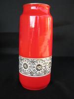 Hollóházi porcelán retro váza