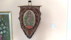 Igazi kuriózum Bőrre festett akt kép, kubai festmény 65x45 cm