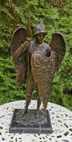Szent Mihály arkangyal - bronz szobor műalkotás