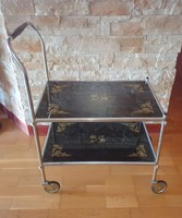 Retro stained glass plate trolley
