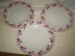 Kínai virágos porcelán tányérok 3 darab 18 cm. (pótlásnak. ) hibátlan