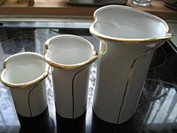 Fehér arannyal váza sorozat Fena porcellan