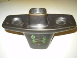 KRAVEK számozott jelzett kerámia mázas gyertyatartó 17x10 cm. hibátlan. .