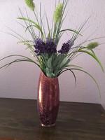 Hollóházi lila színű váza