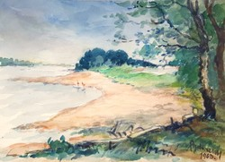 Mende Gusztáv sopron watercolor painting