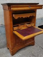 Különleges Biedermeier stílusú szekreter,iró-lehajtható, komód ,fiókos,zàrható,kulcsokkal,