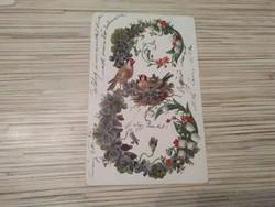Antik Üdvözlő képeslap. (1904).