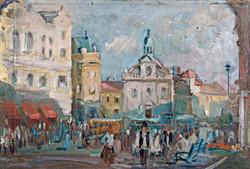 """Gádor Emil- """"Széchenyi tér Pécs"""""""